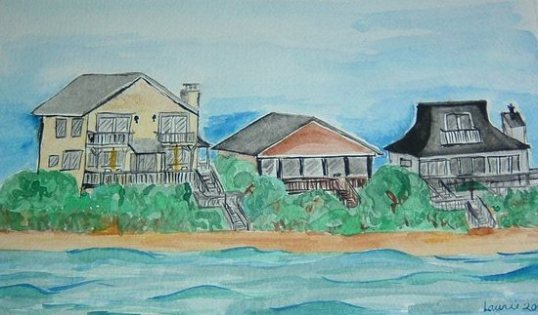 Gary's Folly, Oak Island, NC, 8 x 10 on paper