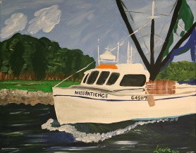 Acrylic on Canvas, Miss Patience, Holden Beach, 16 x 20 $320